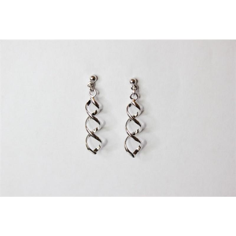 Sølv ørehængere med spiral