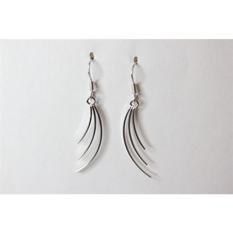 Vifte sølv ørehængere