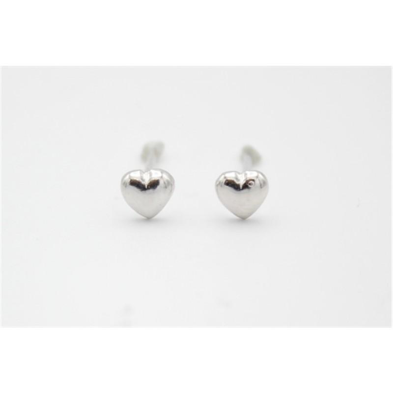 Små hjerter, sølv ørestikker