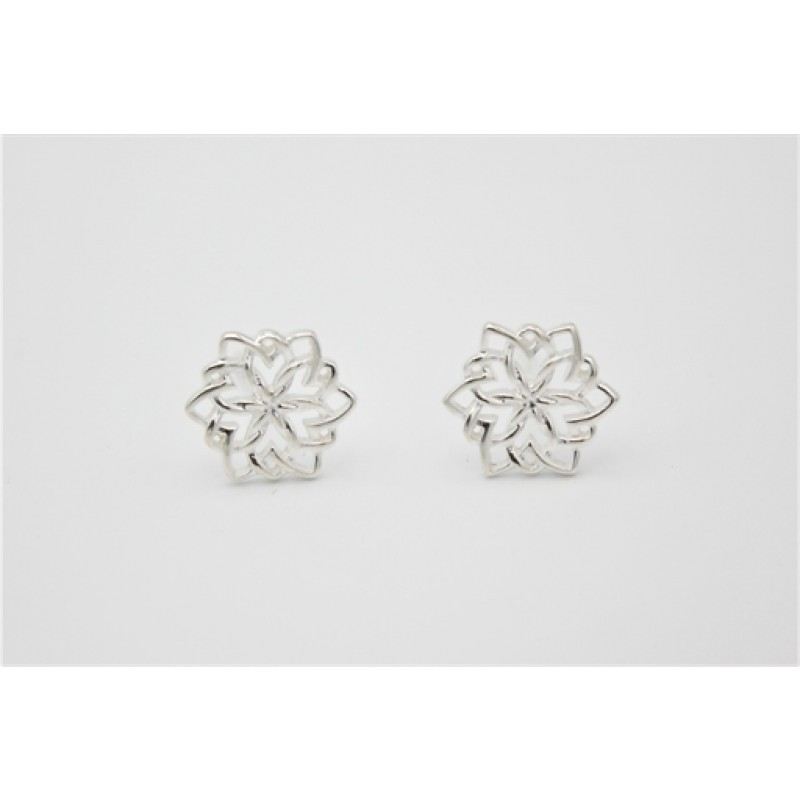 unikke sølv blomster ørestikker