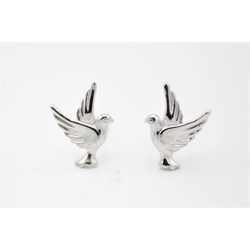 Fredsdue sølv ørestikker