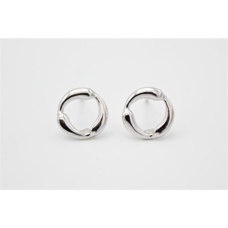 Sølv ørestikker, moderne cirkel
