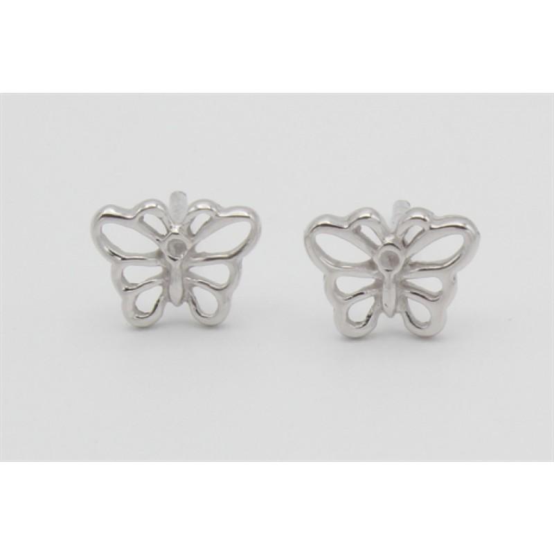 Sølv ørestikker, sommerfugle