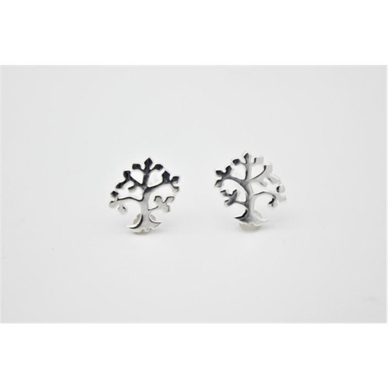 Livets træ, ørestikker, sølv