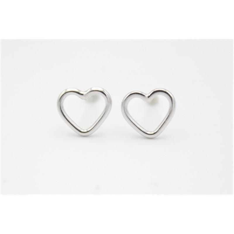 Hjerter, sølv ørestikker