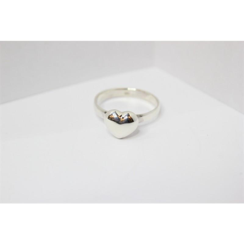 Heart ring, sølv