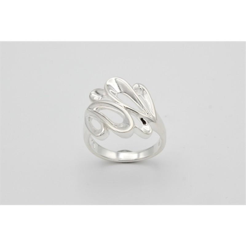 Droplets sølv ring