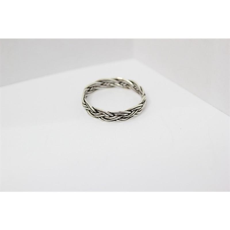 Flettet oxyderet ring