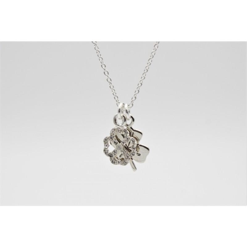 Lucky, sølv halskæde