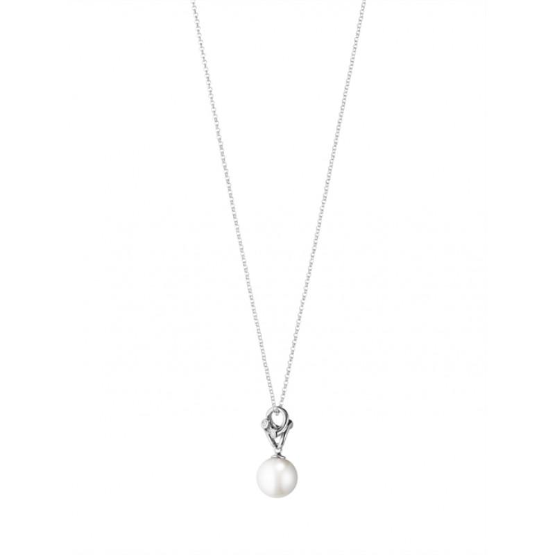MAGIC halskæde med perle hvidguld