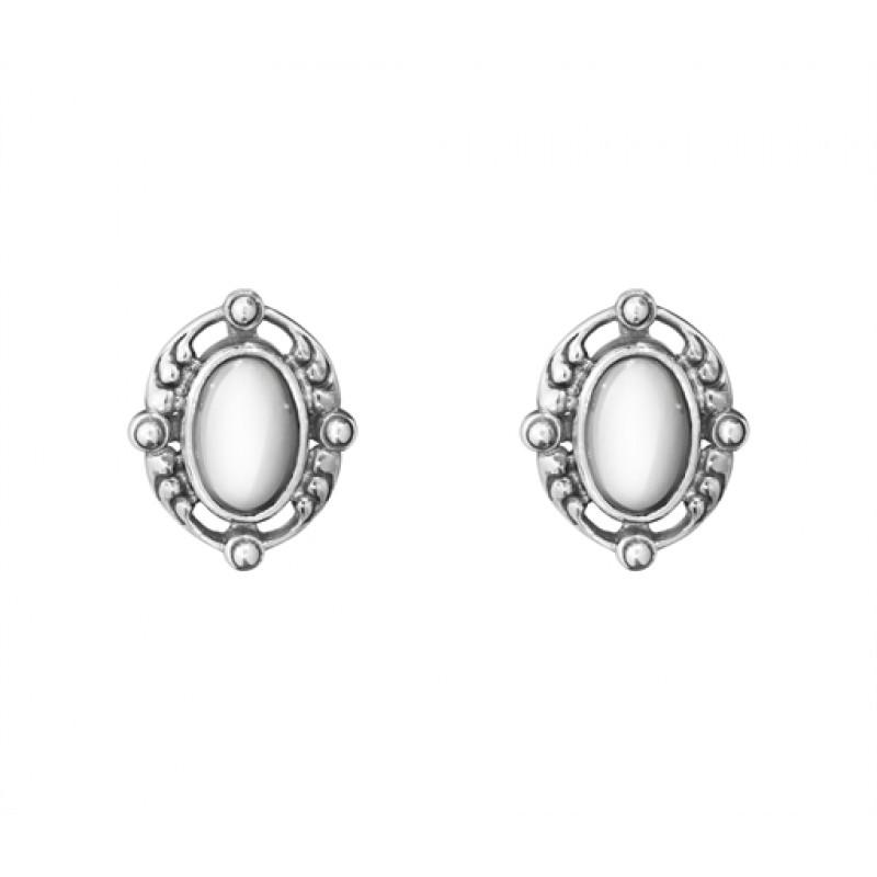 2018 HERITAGE øreclips med sølvsten