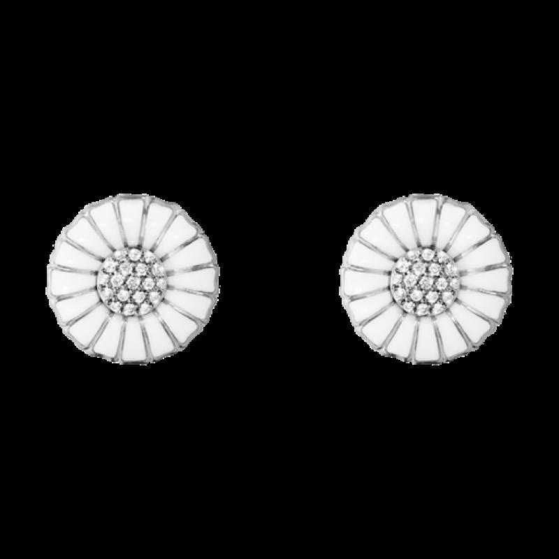 DAISY ørespyd 11 mm med brillanter sølv
