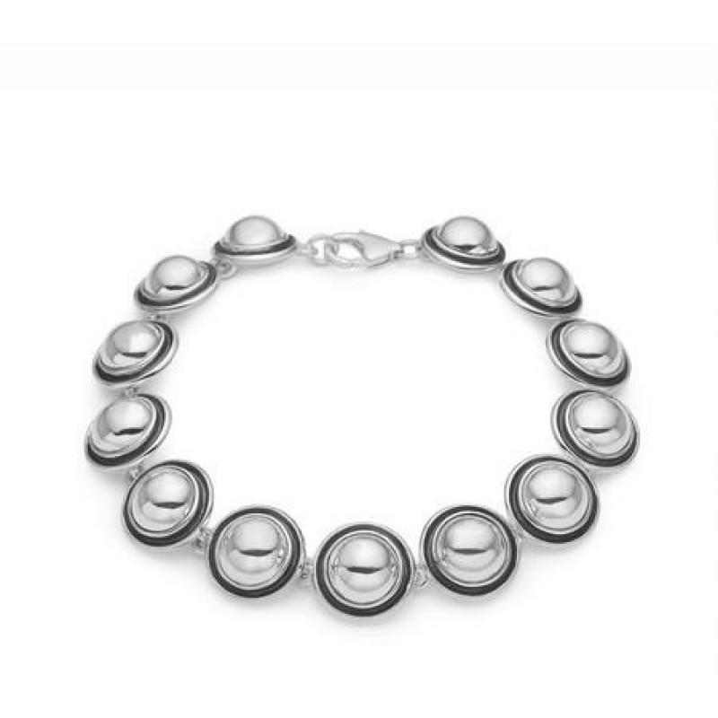 Aagaard sølv armlænke med retro halvkugler