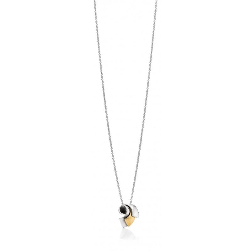 Aagaard halskæde i sølv, med guld