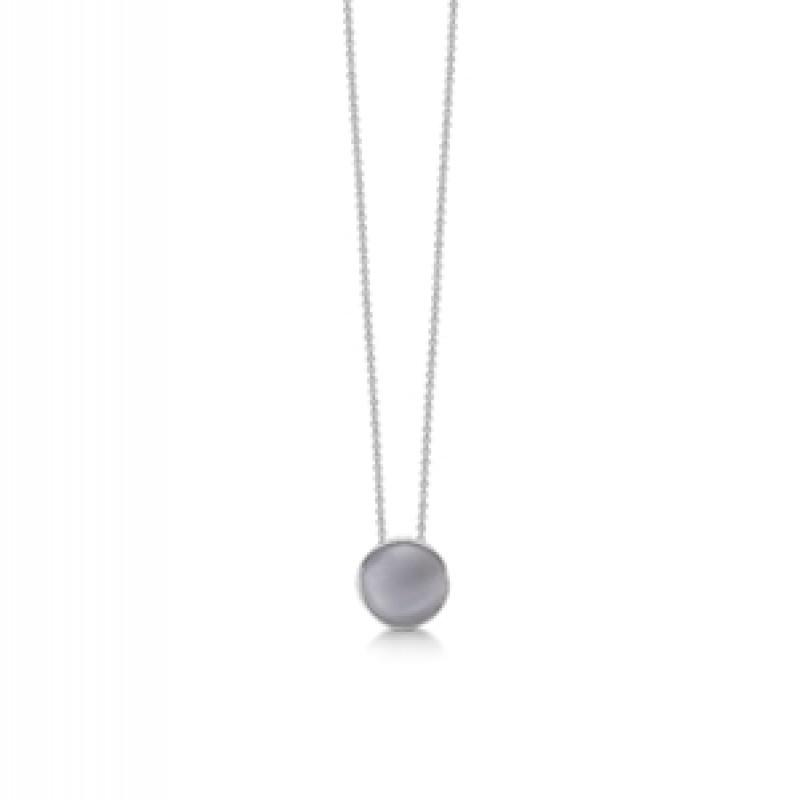 Sølv halskæde med Katteøje fra Aagaard
