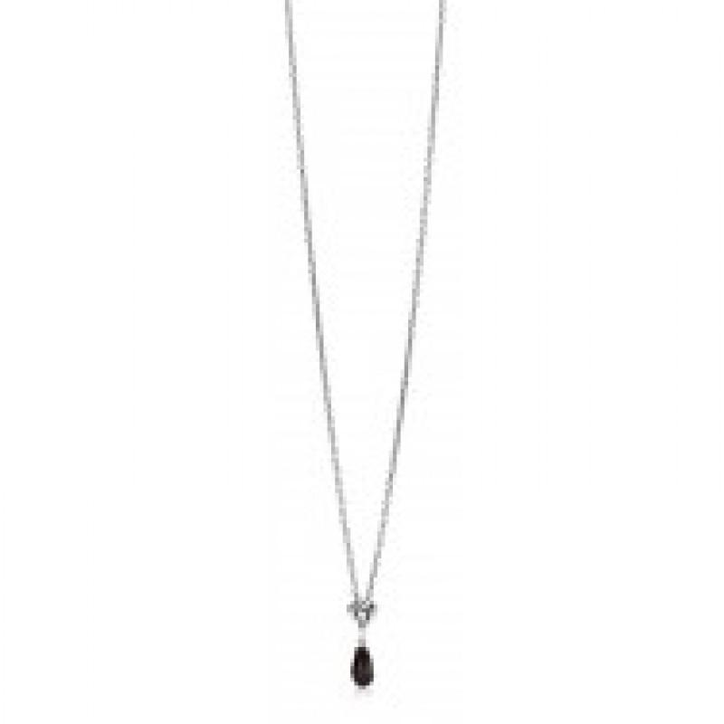 Onyx halskæde i sølv fra Aagaard