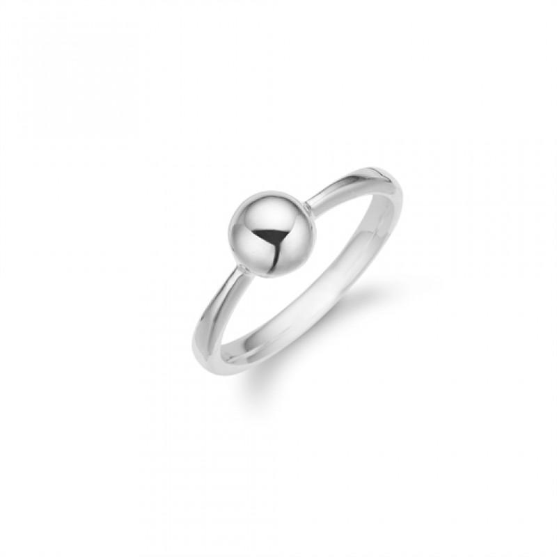 AAGAARD sølv ring med en kugle