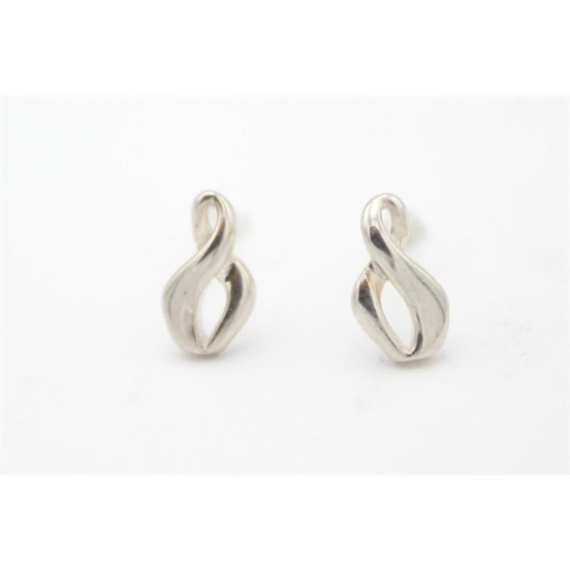 Aagaard moderne sølv ørestikker, uendelighed