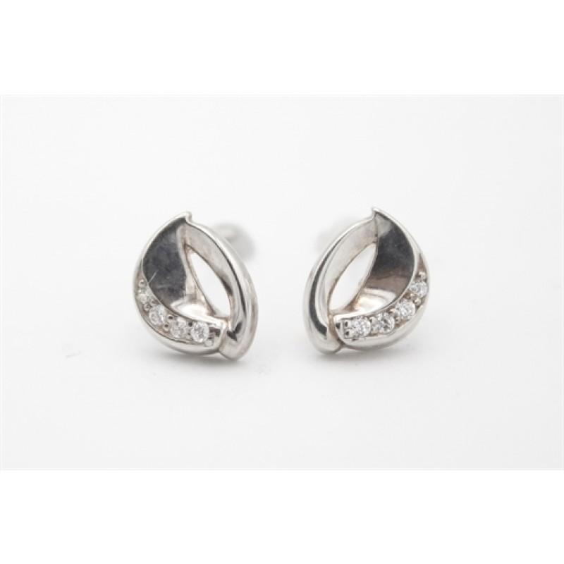 Sølv ørestikker med zirkoner, Aagaard