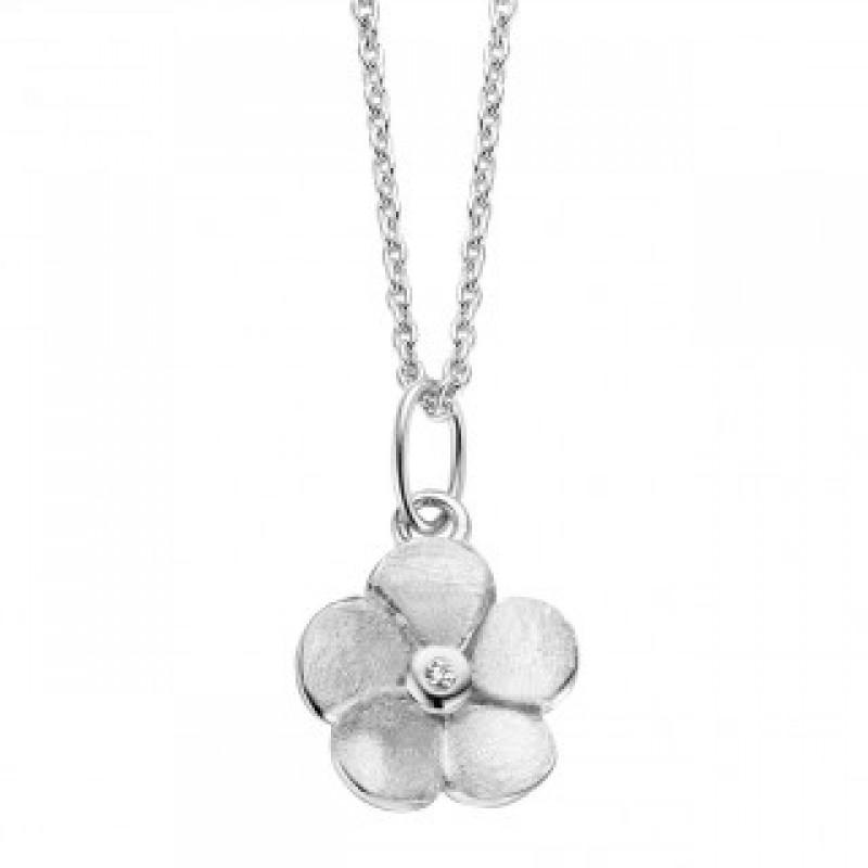 Bloom halskæde, hvidguld