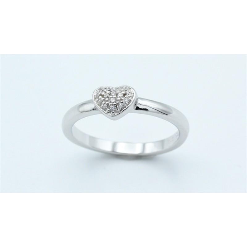 Hearts ring, enkelt, sølv
