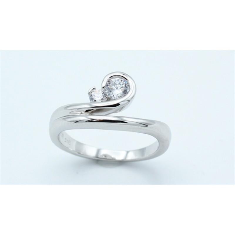 Waves ring, sølv