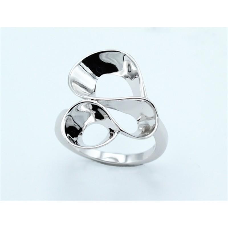 Waves ring, stor, sølv