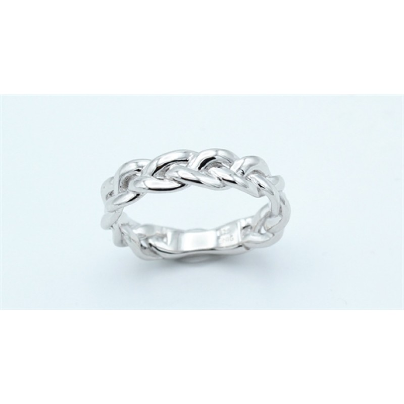 Braid ring, sølv 20-7-20