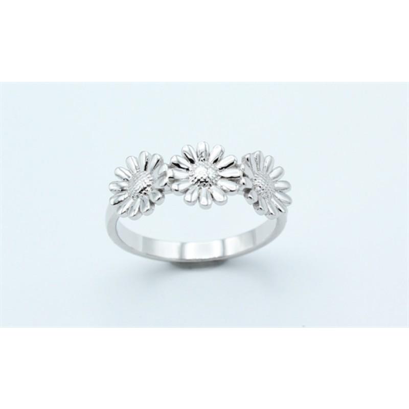 Flower ring, sølv