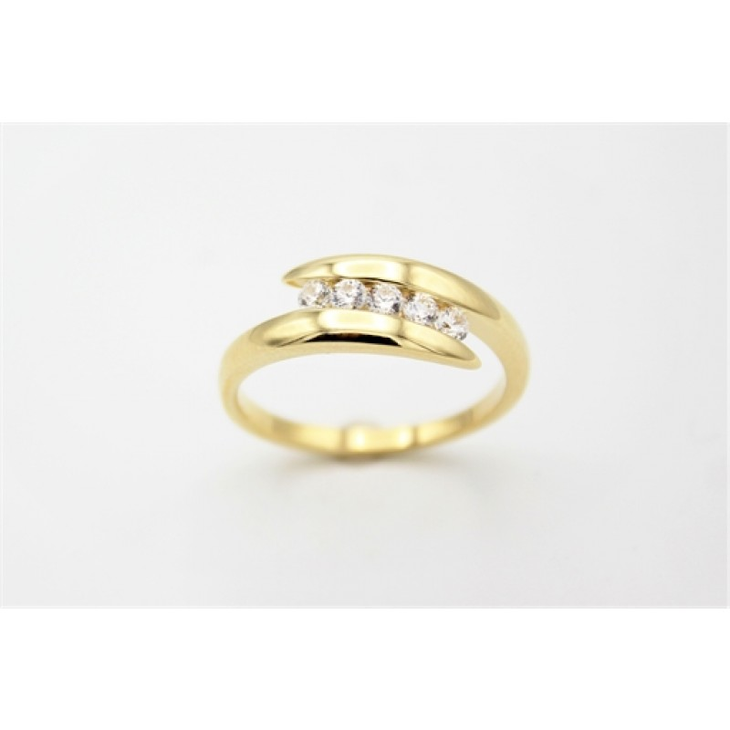 Twice 8 kt ring, zirk.