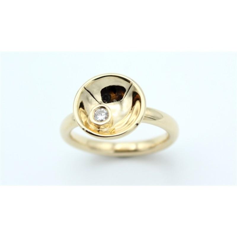 Circle Diamond 14 kt ring, stor