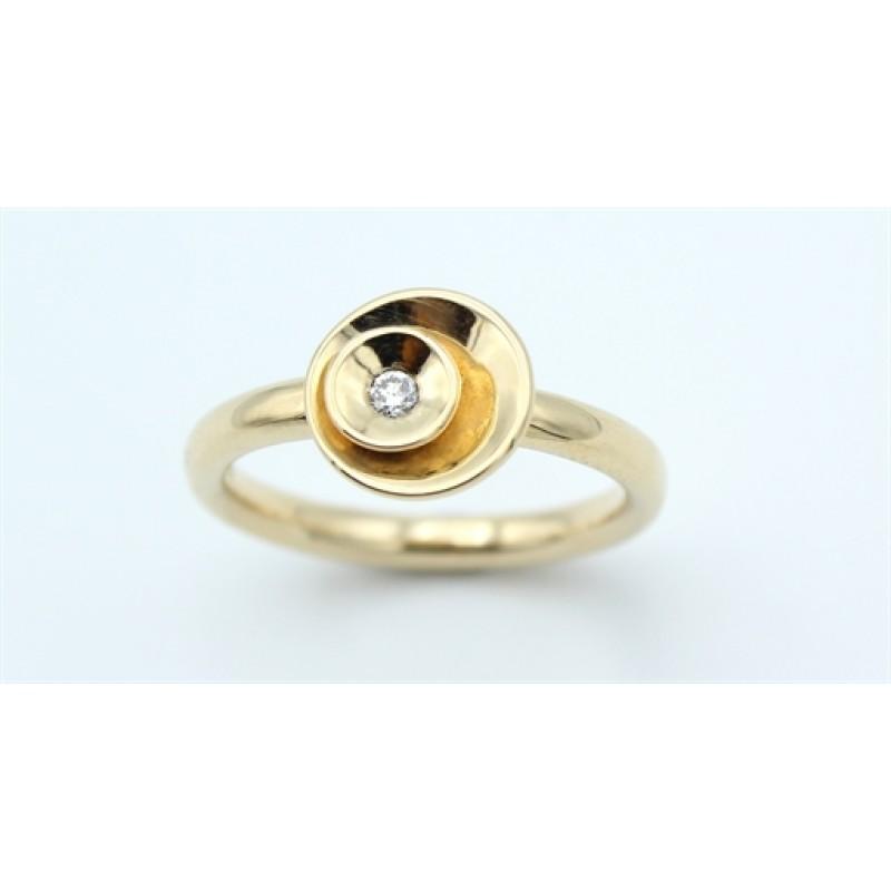 Circle Diamond 14 kt ring, lille