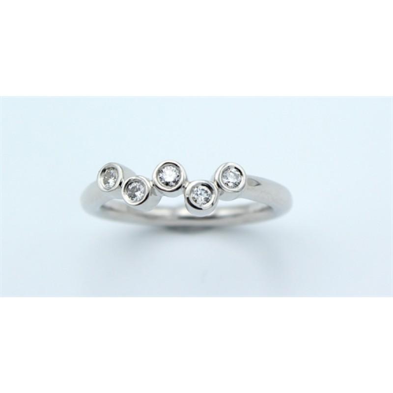 Sky Diamond 14 kt ring, hvg.