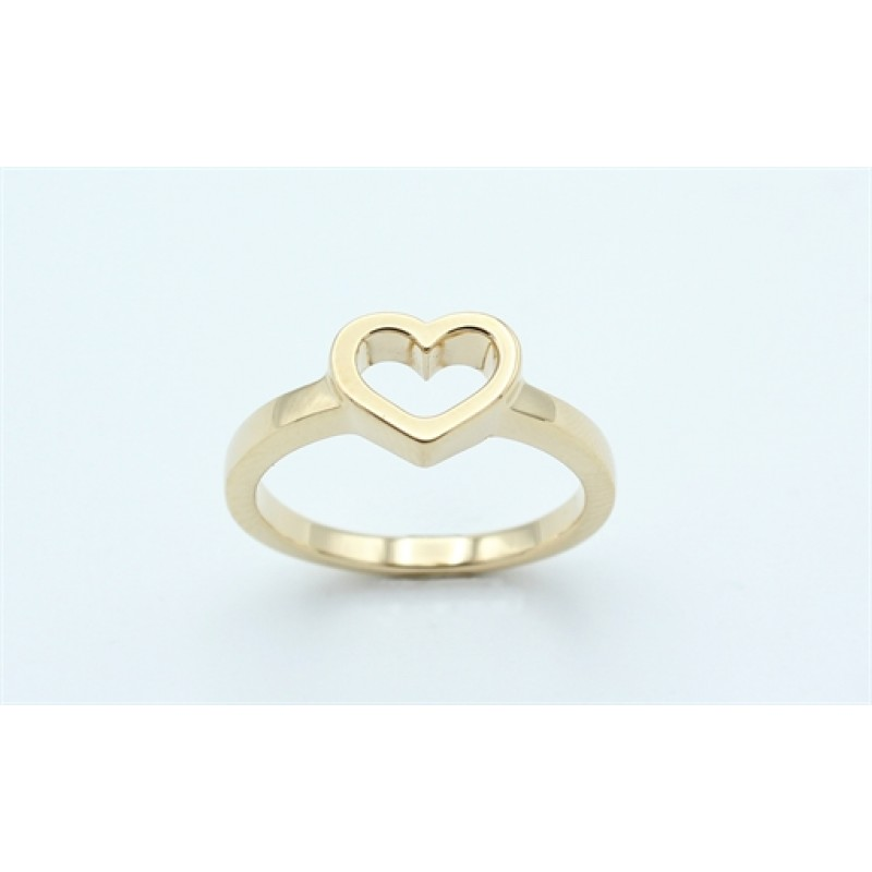 Hearts 14 kt ring