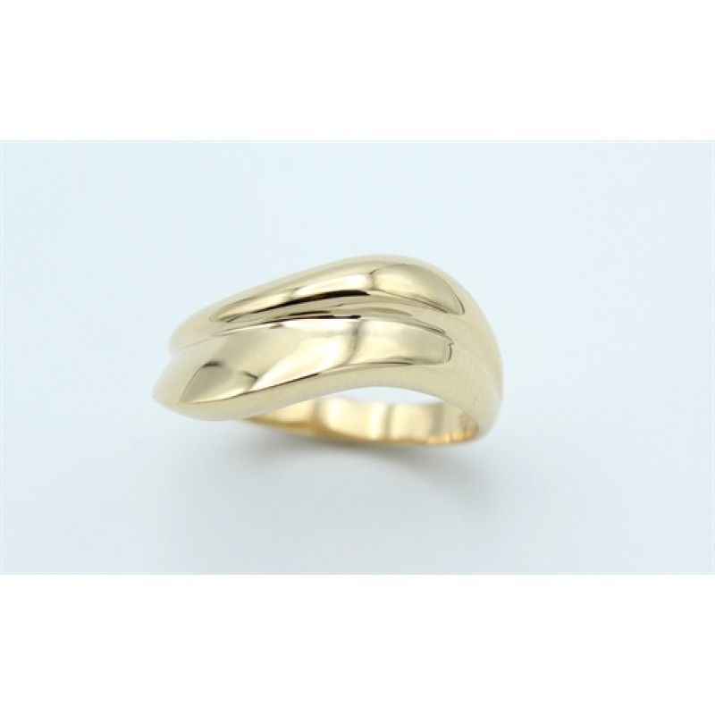 Waves 14 kt ring, blank