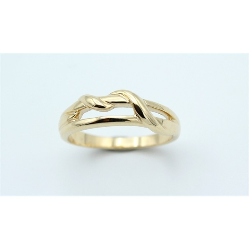 Braid 14 kt ring, swirl