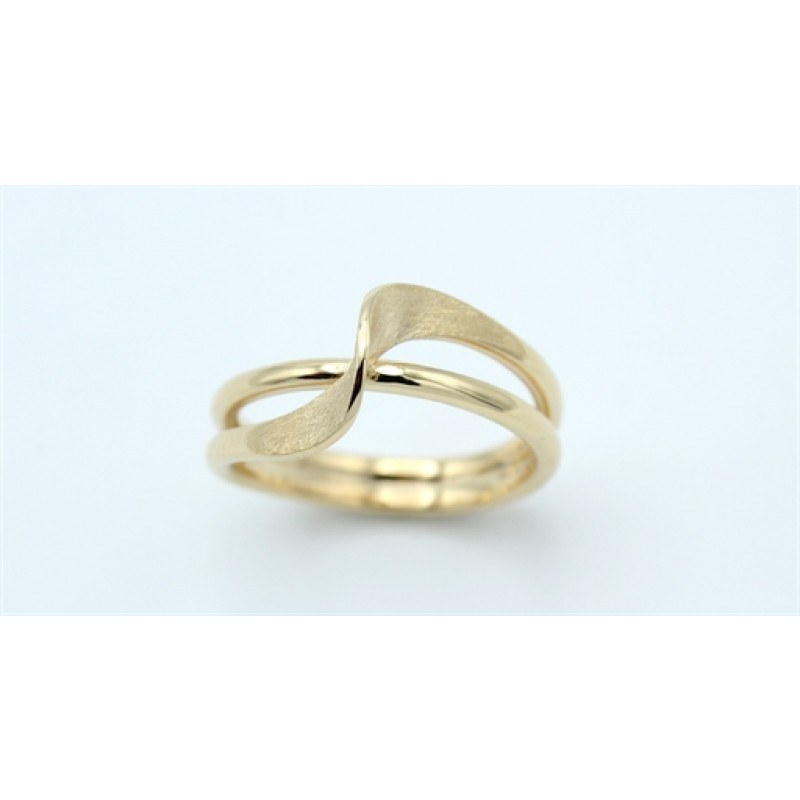 Waves 14 kt ring, matteret