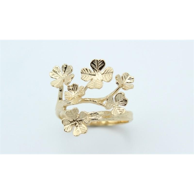 Flower 14 kt ring