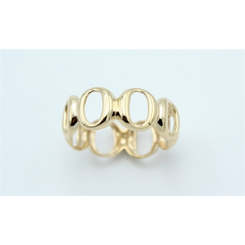 Circle 14 kt ring, rund