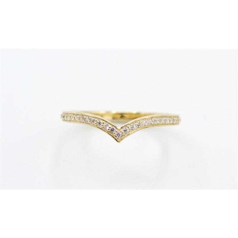 Classic 8 kt rødguld ring, V