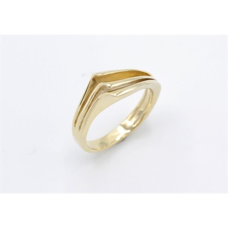Lines 8 kt rødguld ring