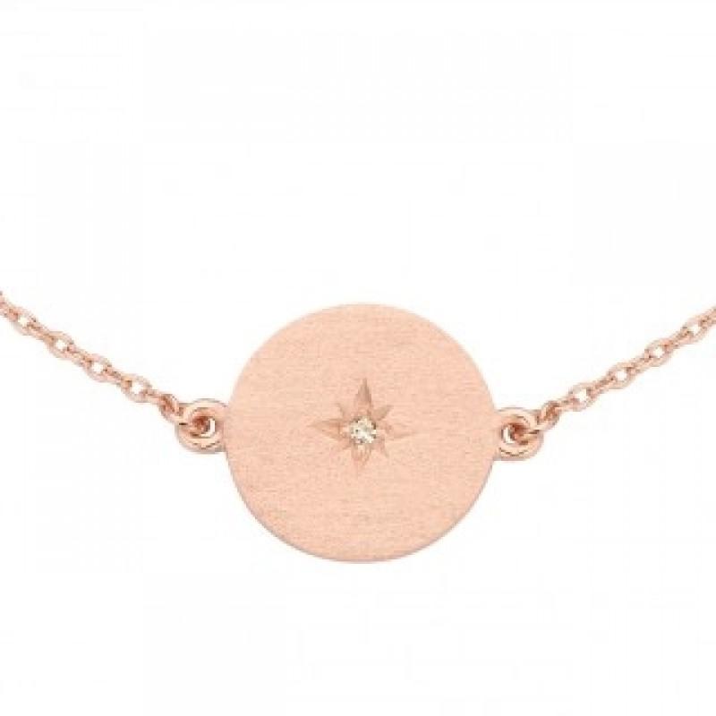 North Star armlænke, rosa forgyldt