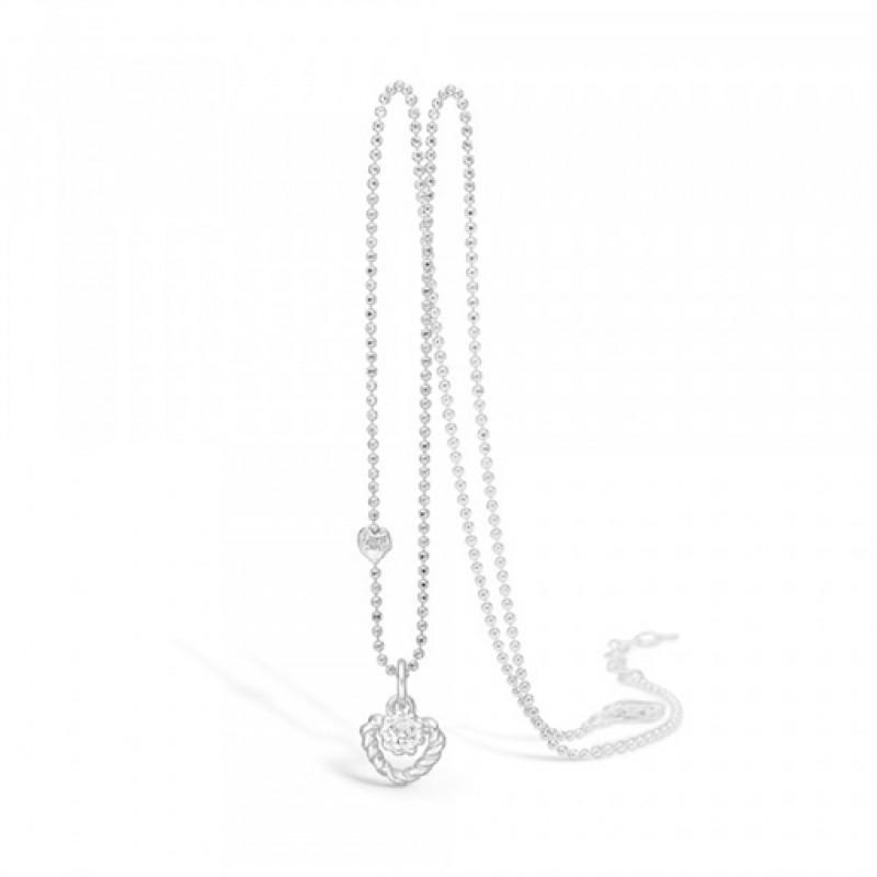 BLOSSOM halskæde i sølv, zirkonia