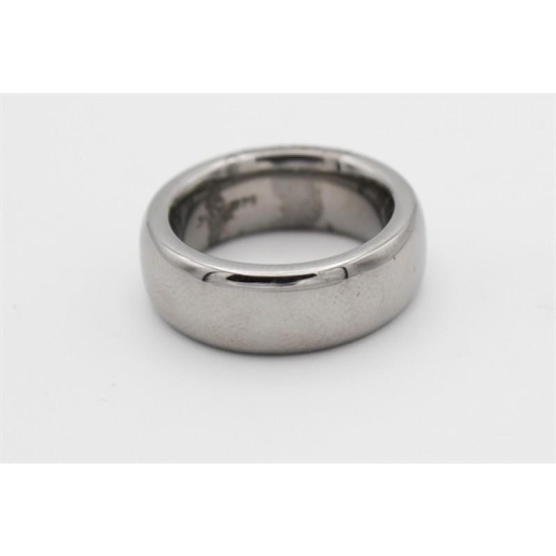 Sort rhodineret ring, bred, fra Aagaard
