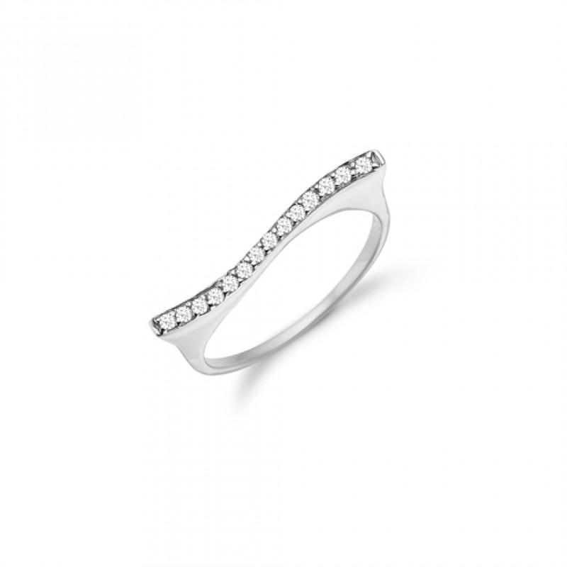 AAGAARD sølv ring med en række zirkoner