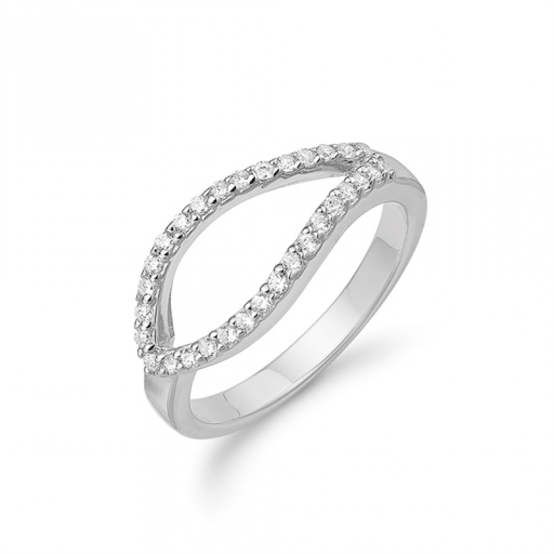 AAGAARD sølv ring, syn. zirkoner