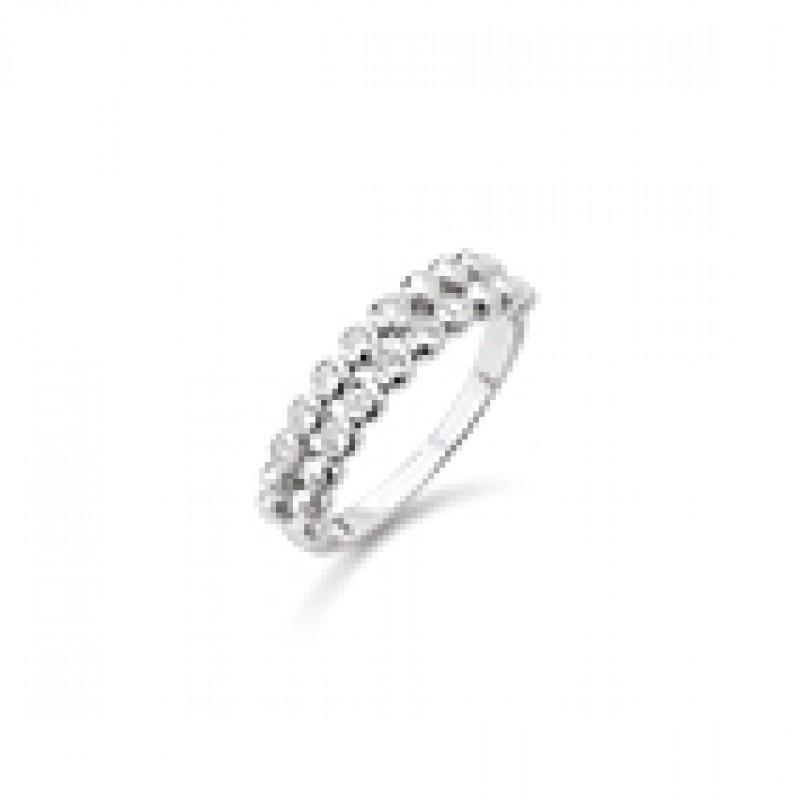 AAGAARD sølv ring med to rækker zirk.