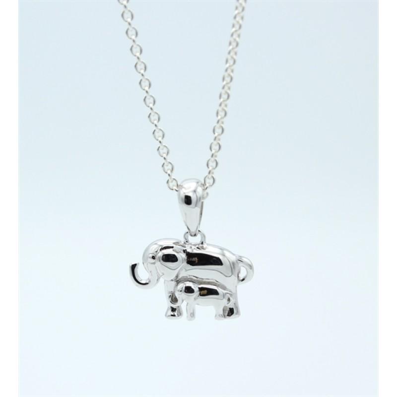 Elephant vedhæng, sølv