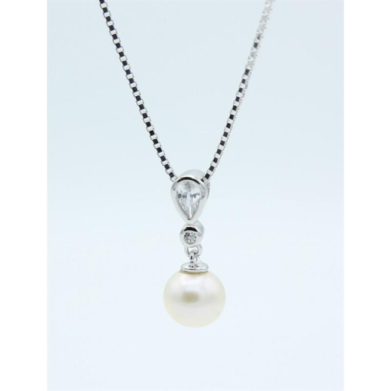 Pearl halskæde, sølv