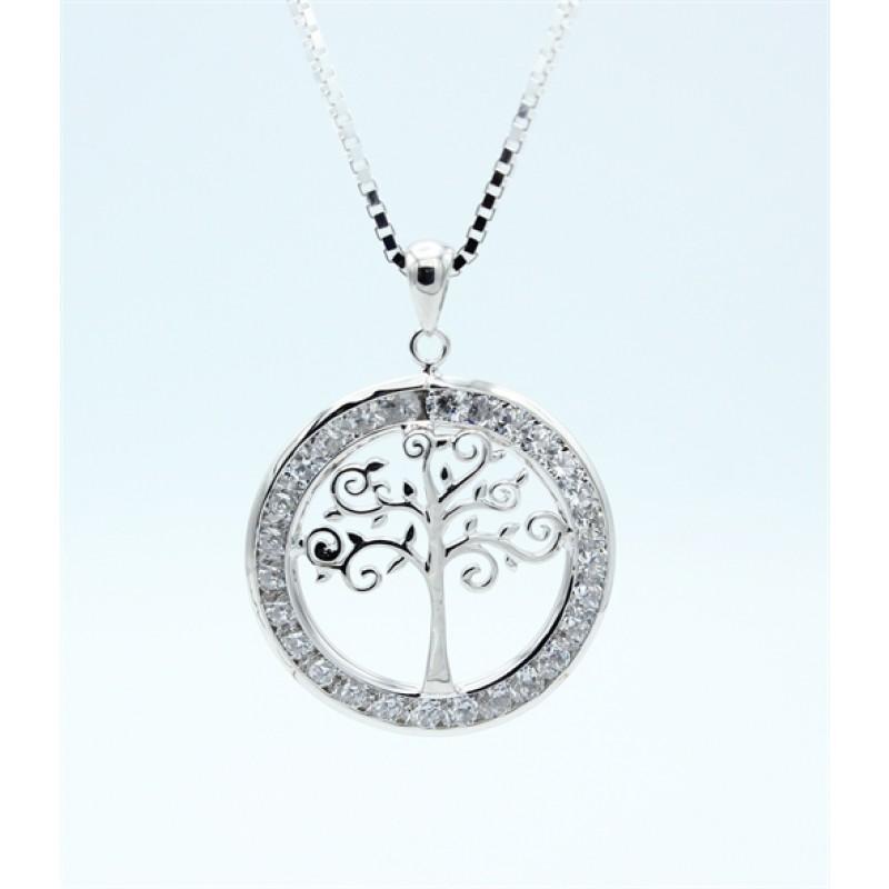 Tree of Life halskæde, zirk., sølv